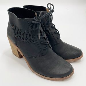 Modern Vintage Carina black leather lace up boots